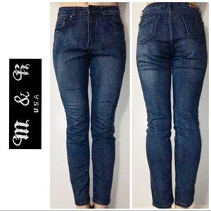 M&R Dark Blue High Rise Skinny Denim Jeans 9/10